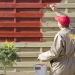 Fence paint red
